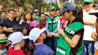 """Encabeza Claudia Sheinbaum Pardo la mega jornada de """"Sábado de Tequio"""" para mejorar entorno en la 3A. sección de Chapultepec"""